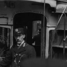 Still from 'Tram Ride through the City of Sheffield' (1902): Condutor C118 | Photo: British Film Institute
