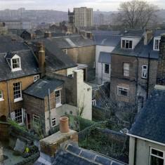 Filey St backs from Brunswick St roof. 1982 | Photo: Adrian Wynn