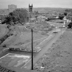 Aerial view of Upper Hanover St. 1982 | Photo: Adrian Wynn