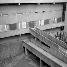 Broomhall flats, empty before demolition. 1985