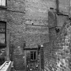 Alley at back of Havelock Square, 1981