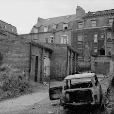 Garages behind Brunswick Street, 1981