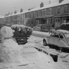 Snowman on Havelock St, 1981