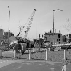 Ecclesall Rd and the New Inn pub. 1982. | Photo: Adrian Wynn