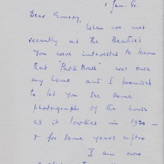 Letter to John Emery (page 1). 1981 | Photo: William Emery