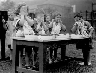 Washing Outdoors, 1936 | Photo: Broomhall Nursery