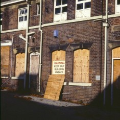 Derelict building; possibly on site of Lynwood Gardens c.1988 | Photo: Broomhall Centre