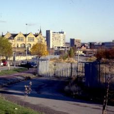 Lower Broomspring Lane: site of Broomhall Flats. c.1988 | Photo: Broomhall Centre