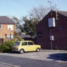 Mini on forecourt, c.1988 | Photo: Broomhall Centre