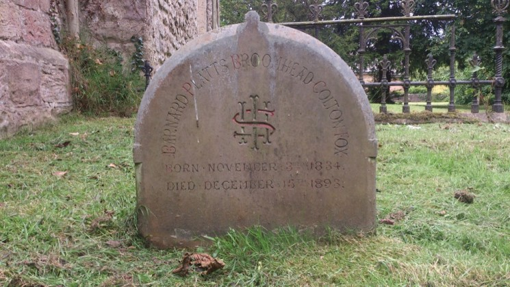 The stone of Mr. Broomhead Colton-Fox in Todwick Church.  | Photo: Our Broomhall
