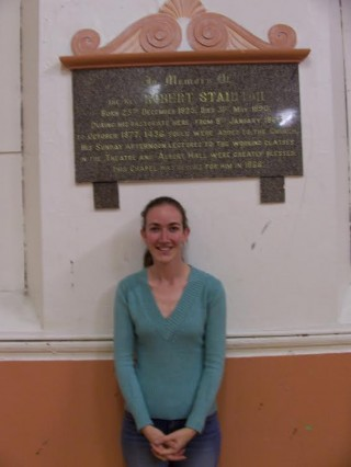 Jennifer with the Memorial Tablet, 2006