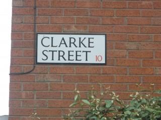 Street Sign for Clarke Street. 2015 | Photo: Our Broomhall