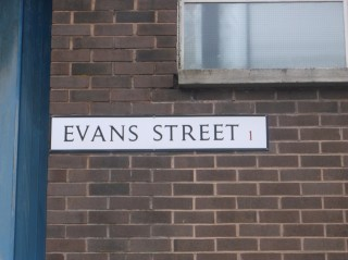 Street Sign for Evans Street. 2015 | Photo: Our Broomhall