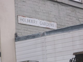 Street Sign for Holberry Gardens. 2015 | Photo: Our Broomhall