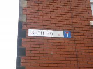 Street Sign for Ruth Square. 2015 | Photo: Our Broomhall