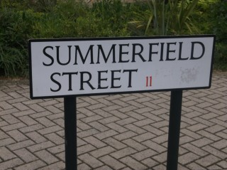 Street Sign for Summerfield Street. 2015 | Photo: Our Broomhall