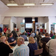 Our Broomhall Heritage open day event, Maggie Wykes reading the Book at the Launch. 2015   Photo: Simon Kwon