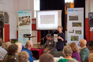 Our Broomhall Heritage open day event, Maggie Wykes reading the Book at the Launch. 2015 | Photo: Simon Kwon