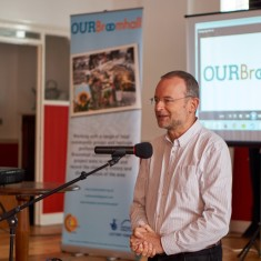 Our Broomhall Heritage open day event. Paul Blomfield guest speaker at Book Launch. 2015   Photo: Simon Kwon