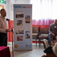 Our Broomhall Heritage open day event. Paul Blomfield guest speaker at Book Launch. 2015 | Photo: Simon Kwon