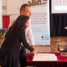 Our Broomhall Heritage open day event. Paul Blomfield and Nivrrithi Chhabria at Book Launch. 2015 | Photo: Simon Kwon